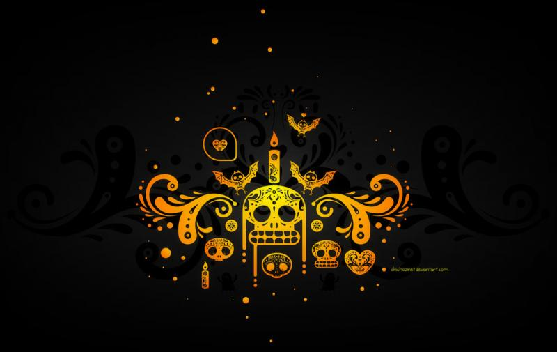 "Pic: ""Dia de Muertos Wallpaper"" by chicho21net"