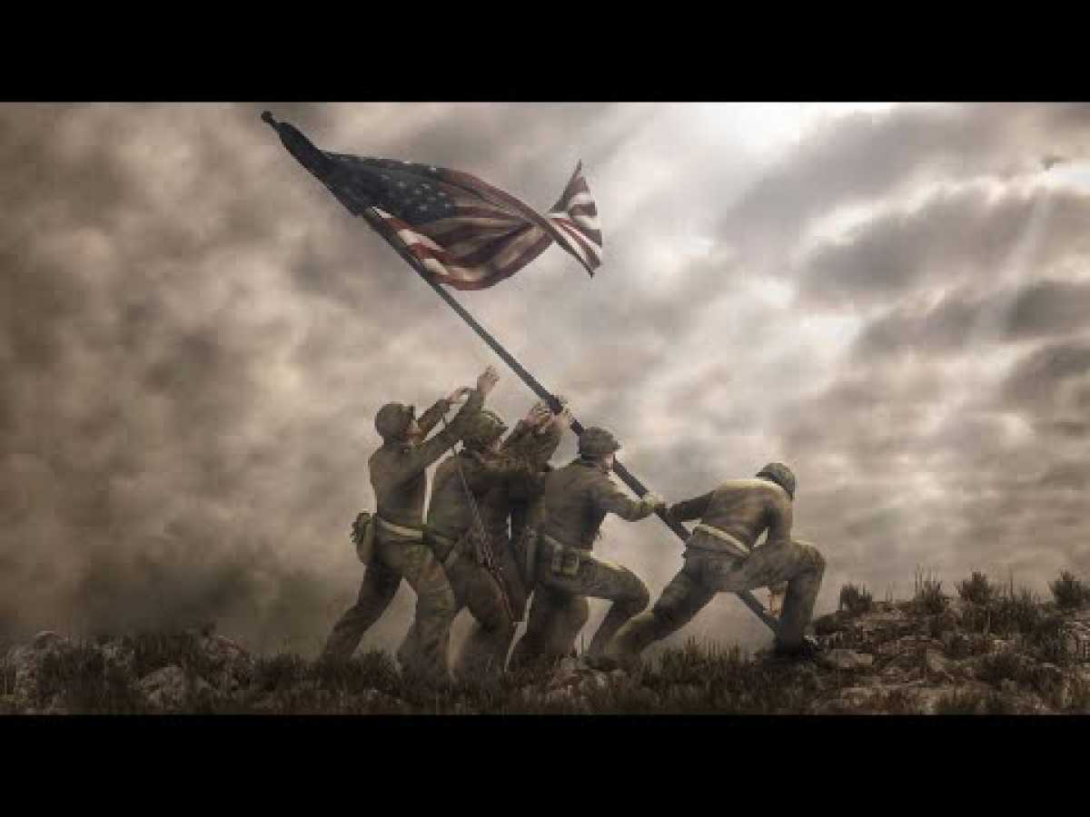 Assault on Iwo Jima - 1945 - Documentary Color (HQ) WWII