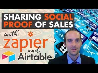 How to Share Social Proof of Sales on Thinkific with Zapier and Airtable