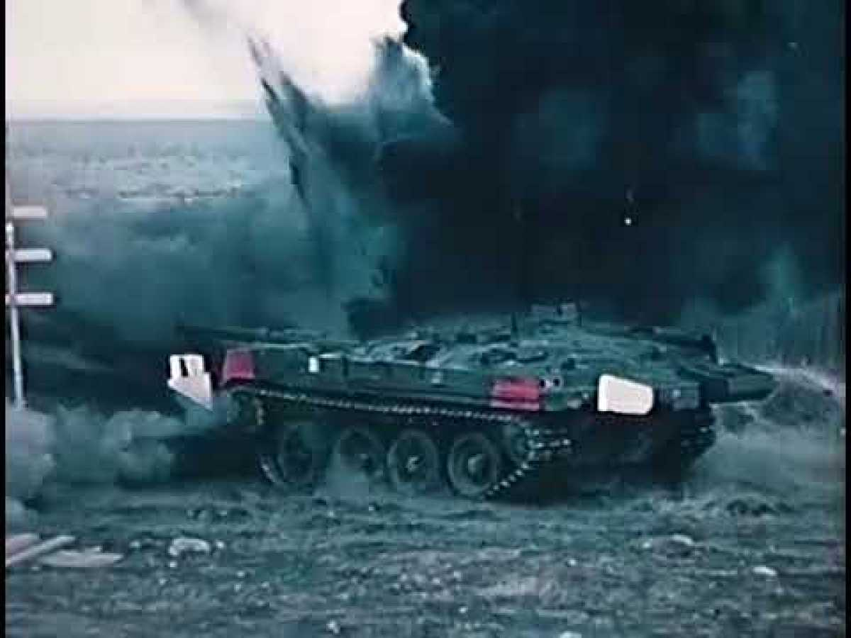 Vapenverkan mot Stridsvagn 103 - Live fire trials against the S tank